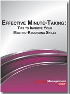 Effective Minute-Taking