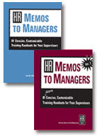 HR Memos to Managers, Vols. 1 & 2