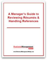 A Manager's Guide to Reviewing Resumes